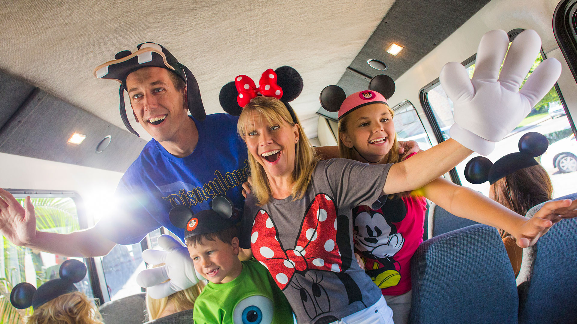 Family going to Disneyland