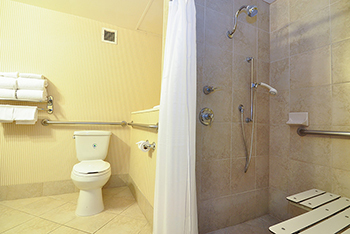 ADA Bathroom at the Anaheim Majestic Garden Hotel