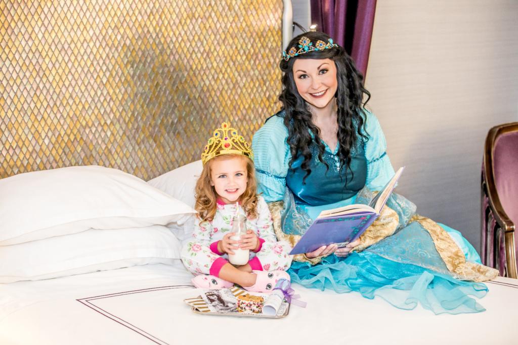 Anaheim Majestic Hotel near Disneyland offers its youngest guests a royal in room story time visit with Princess Corinne through new bedtime or wake up appointments