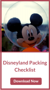 Download our Disneyland Packing Checklist Now
