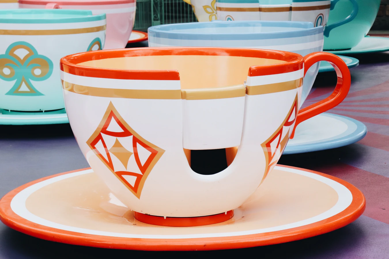 Teacup ride at Disneyland