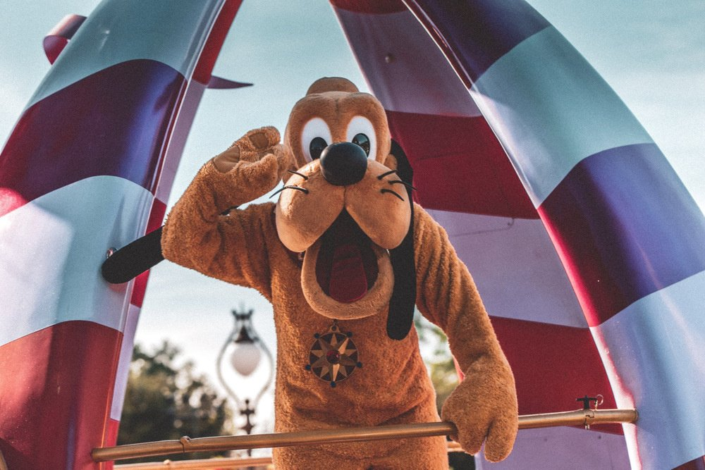 Pluto at Disneyland in Anaheim